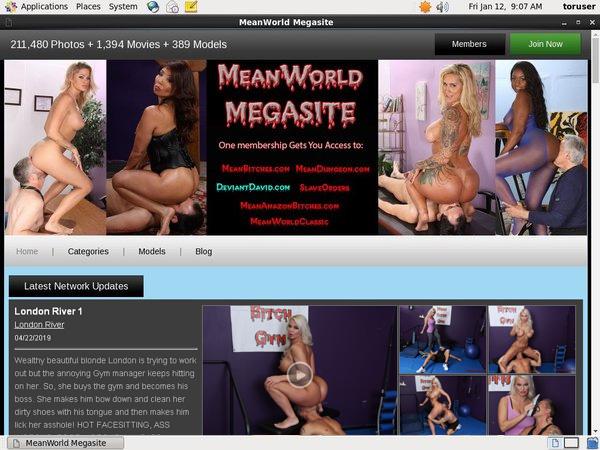 Meanworld.com Exit Discount